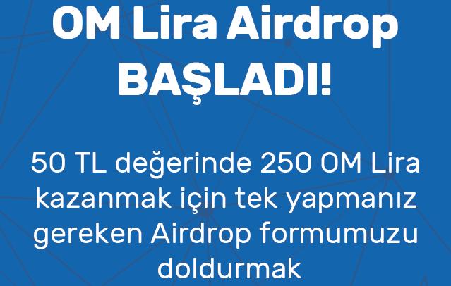 Yerli Kripto Para Girişimi OM Lira (50 TL Airdrop)