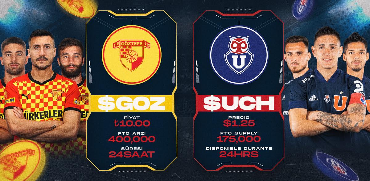 Chiliz Göztepe ve Club Universidad de Chile Fan Token lansmanları !