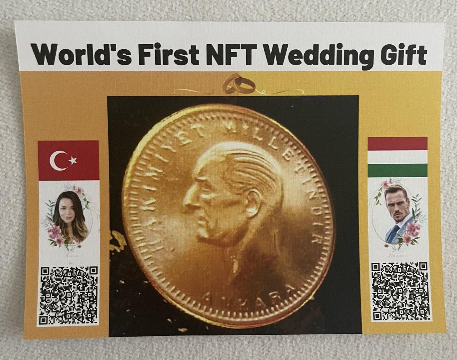 Dünyada bir ilk: Nikah töreninde geline NFT altın takıldı!